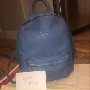 Tory Burch Blue leather backpack!